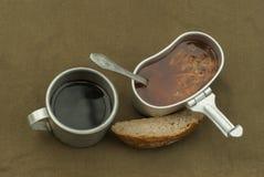 Una cena escasa del ` s del viajero Fotografía de archivo