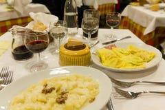 Una cena italiana Fotografía de archivo
