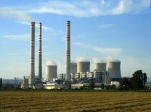 Una central eléctrica Imagen de archivo