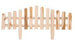 Una cerca de madera hecha a mano aislada Fotos de archivo libres de regalías