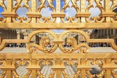 Una cerca de oro de Verdailles fotos de archivo libres de regalías