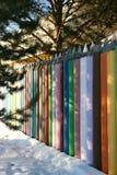 Una cerca hecha de creyones 5 Fotos de archivo
