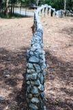 Una cerca hecha de rocas Imagen de archivo