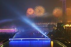 Una cerimonia di apertura Canton Cina di 2010 giochi asiatici fotografia stock