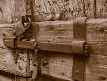 Una cerradura muy vieja foto de archivo