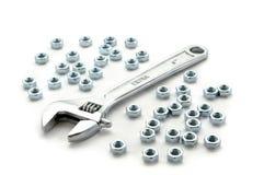 Una chiave del metallo del bicromato di potassio Immagine Stock Libera da Diritti