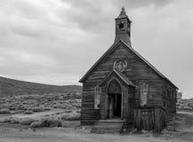Una chiesa in Bodie, California fotografia stock libera da diritti