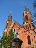 Una chiesa cattolica antica in una provincia nel sud dell'Ucraina Immagini Stock Libere da Diritti