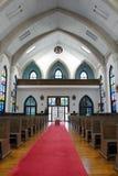 Una chiesa cattolica giapponese ed il suo interno di architettura immagini stock libere da diritti