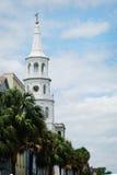 Una chiesa a Charleston (città santa) in Carolina del Sud Fotografia Stock Libera da Diritti