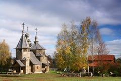 Una chiesa di legno del secolo 18 Fotografia Stock