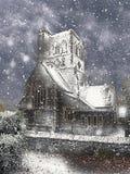Una chiesa di Snowy Regione dei laghi Fotografia Stock Libera da Diritti
