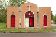 Una chiesa nel Mississippi Immagini Stock Libere da Diritti