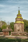 Una chiesa ortodossa antica ucraina tipica Fotografia Stock