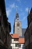 Una chiesa in Quedlinburg Fotografia Stock