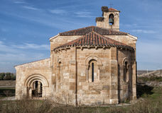 Una chiesa romanica in Spagna Immagini Stock Libere da Diritti