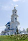 Una chiesa sul modo a Novosibirsk da Irkutsk Fotografia Stock Libera da Diritti