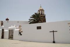 Una chiesa a Teguise Fotografie Stock Libere da Diritti