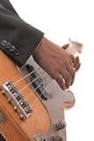 Una chitarra elettrica di gioco Fotografia Stock