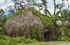 Una choza tradicional en un pueblo de montaña Imagen de archivo libre de regalías