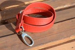 Una cinghia rossa per la borsa Fotografia Stock