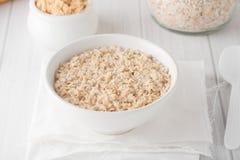 Una ciotola di farina d'avena cucinata Fotografia Stock Libera da Diritti