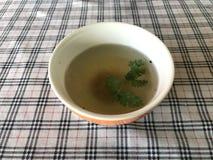 Una ciotola di minestra Fotografie Stock