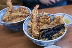 Una ciotola di squisitezza della tempura Fotografia Stock