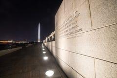 Una citazione nel memoriale di WWII Fotografia Stock