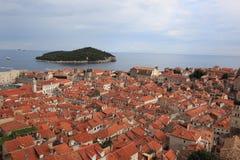 Una città di Dubrovnik Fotografia Stock