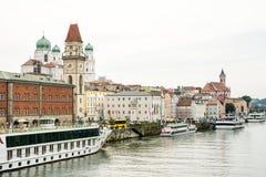 Una città di tre fiumi - Passavia Fotografie Stock