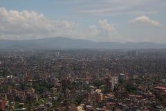 Una città inquinante Fotografia Stock Libera da Diritti