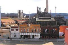 Una ciudad de acero de muerte fotografía de archivo