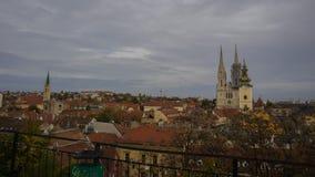 Una ciudad más baja, Zagreb imagen de archivo
