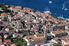 Una ciudad vieja Hvar-Croatia Fotografía de archivo libre de regalías