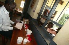 Una clínica en Uganda Imágenes de archivo libres de regalías