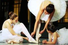 Una classe di balletto Fotografia Stock