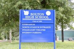 Una classe di High School di Bolton di 1999, Bolton, TN Fotografia Stock