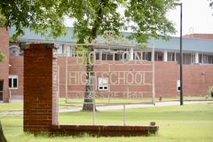 Una classe di High School di Bolton di 1966, Bolton, TN Immagine Stock