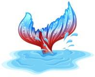 Una cola de un pescado grande Imagen de archivo libre de regalías