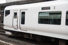 Una cola de un tren Imagen de archivo libre de regalías