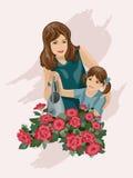 Una colada en las flores. Foto de archivo libre de regalías
