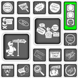 Iconos de la oferta especial Imagen de archivo libre de regalías
