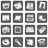 Presione los iconos Fotos de archivo libres de regalías