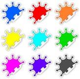 Etiquetas engomadas del chapoteo del color Imágenes de archivo libres de regalías
