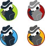Colección del logotipo de la bola del espía Imágenes de archivo libres de regalías