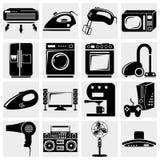Una colección del vector de iconos de los aparatos electrodomésticos fijó o Imagen de archivo