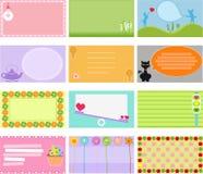 Una colección linda de escritura de la etiqueta/de tarjeta del vector Fotografía de archivo libre de regalías