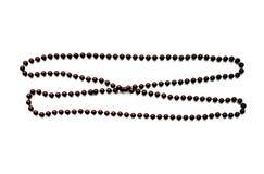 Una collana isolata su fondo bianco fotografia stock