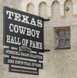 Una collezione del vagone di Sterquell a Texas Cowboy Hall del si di fama Fotografia Stock